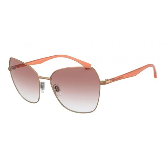 Emporio Armani EA 2095 - 33188D Matte Bronze & Pale Gold | Sunglasses Woman