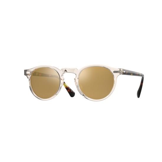 Oliver Peoples Sonnenbrille Gregory Peck 5217 1485W4 Honey Braun Gold Spiegel