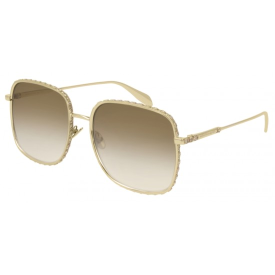 Alexander McQueen AM0180S - 003 Gold | Sunglasses Woman