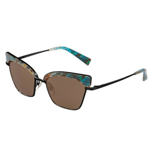 Alain Mikli A0 4005 Alouette 005/73 Havana Chevron Blue Mat Black | Sunglasses Woman
