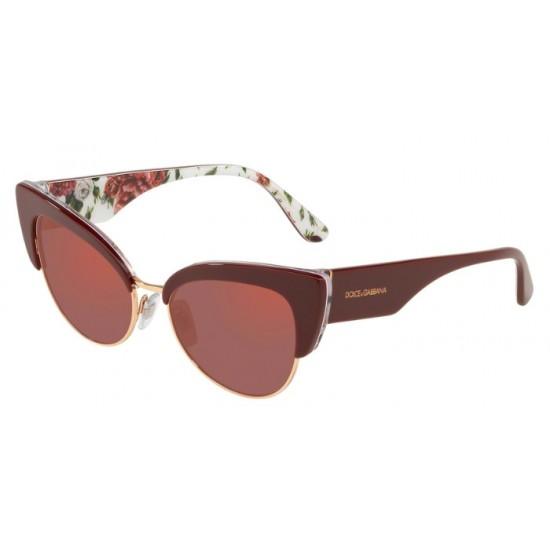 Dolce & Gabbana DG 4346 - 3202D0 Bordeaux On Rose And Peony | Sunglasses Woman