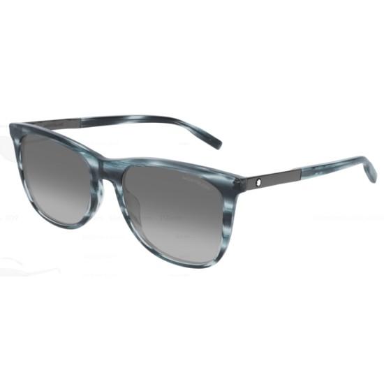 Montblanc MB0017S - 009 Blue | Sunglasses Man