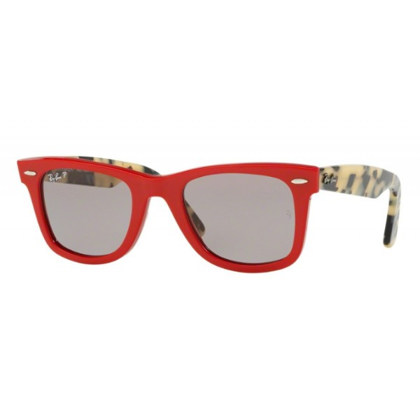 Ray-Ban RB 2140 WAYFARER 1243P2 Polarized Red