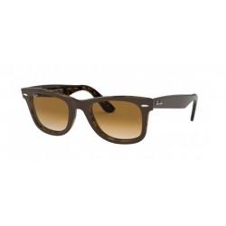 Ray-Ban RB 2140 Wayfarer 127651 Top Brown On Yellow Havana