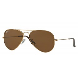 Ray-Ban RB 3025 001-57 Aviator Large Metal Polarized Gold