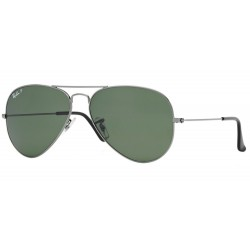 Ray-Ban RB 3025 004-58 Aviator Large Metal Polarized Gunmetal