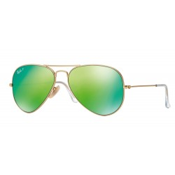 Ray-Ban RB 3025 112-P9 Aviator Large Metal Polarized Gold Matt