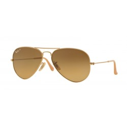 Ray-Ban RB 3025 Aviator Large Metal 112-M2 Matt Gold Polarized