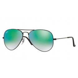 Ray-Ban RB 3025 002 4J Aviator Large Metal Black