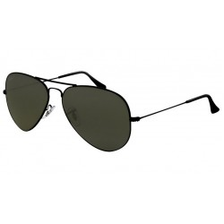 Ray-Ban RB 3025 002-58 Aviator Large Metal Polarized Black