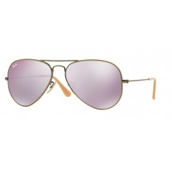 Ray-Ban RB 3025 Aviator Large Metal 167/4K Demiglos Brusched Bronze