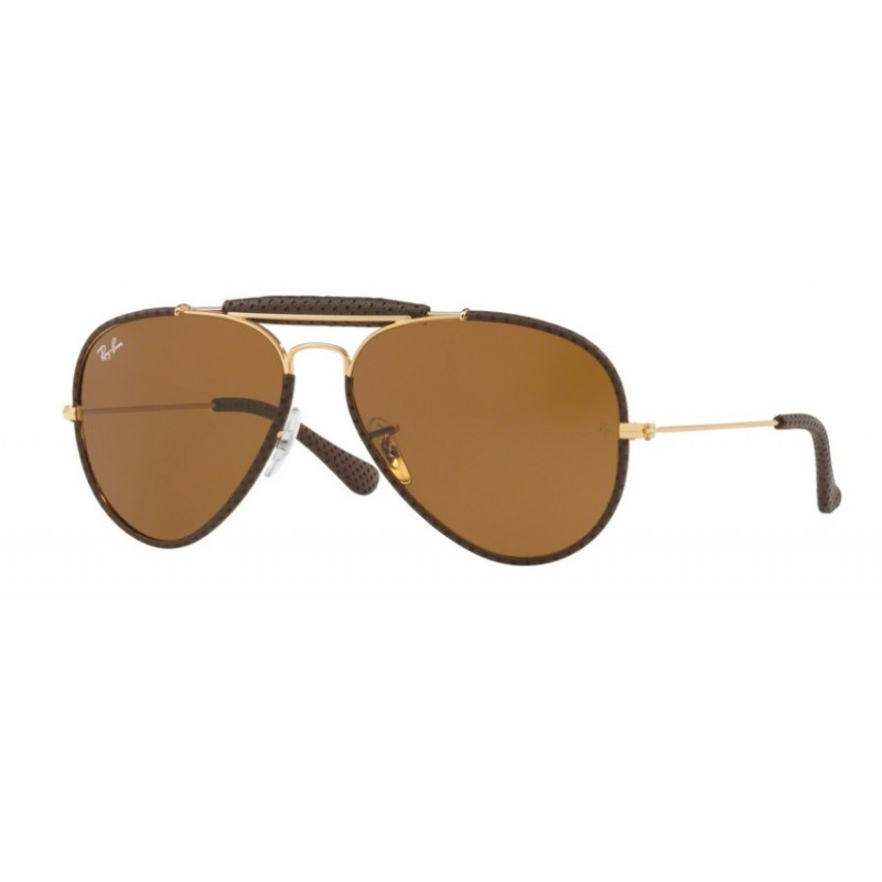 8cd465c181 Ray-Ban RB 3422Q Aviator Craft 9041 Leather Brown