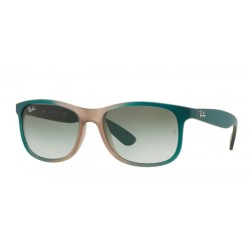 Ray-Ban RB 4202 ANDY 63688E GRAD GREEN ON LT BROWN RUBBER