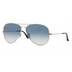 Ray-Ban RB 3025 003-3F Aviator Large Metal Silver