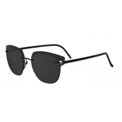 Silhouette Accent Shades 8702 9040 Polarized Black