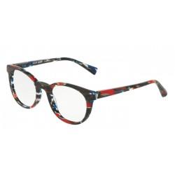 Alain Mikli A0 3063 - 002 Stripped Blue Red Black