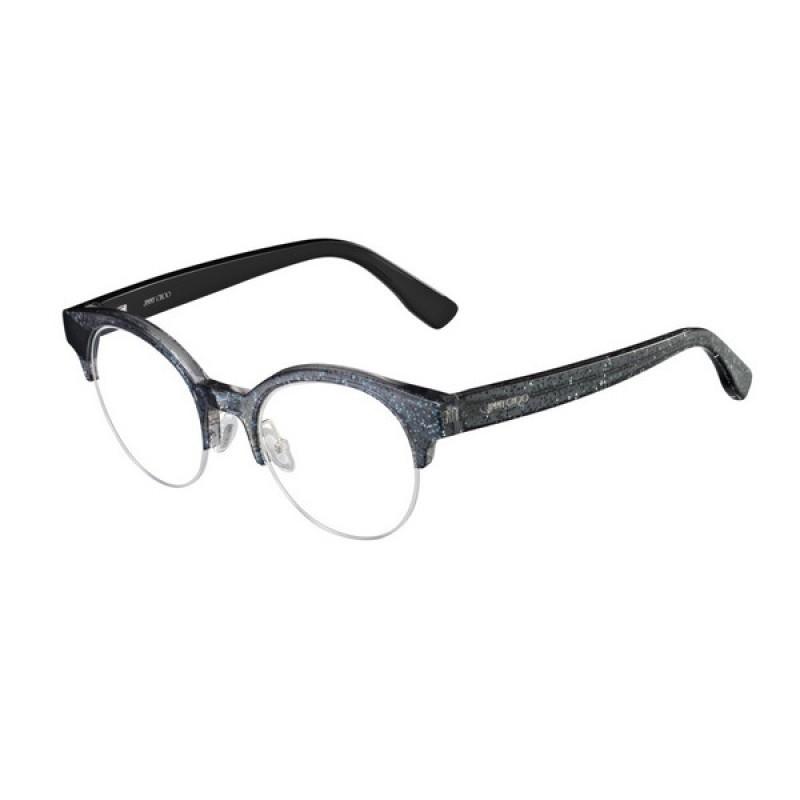 eb7ae8809ae8 Jimmy Choo JC151 - RBY Black Glitter Black   Eyeglasses Woman