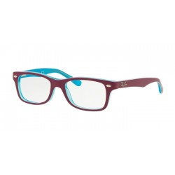 Ray-Ban Junior RY 1531 - 3763 Azure Trasparent Top On Fuxia