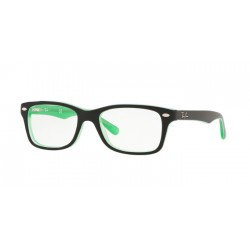 Ray-Ban Junior RY 1531 - 3764 Green Trasparent On Top Black