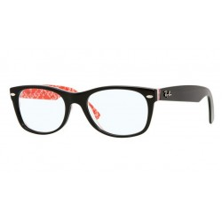 Ray-Ban RX 5184 2479 New Wayfarer Black Text Whiter Su Red