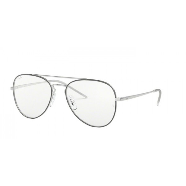Ray-Ban RX 6413 - 2983 Silver Top Black