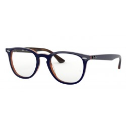 Ray-Ban RX 7159 - 5910 Top Blue On Havana Red