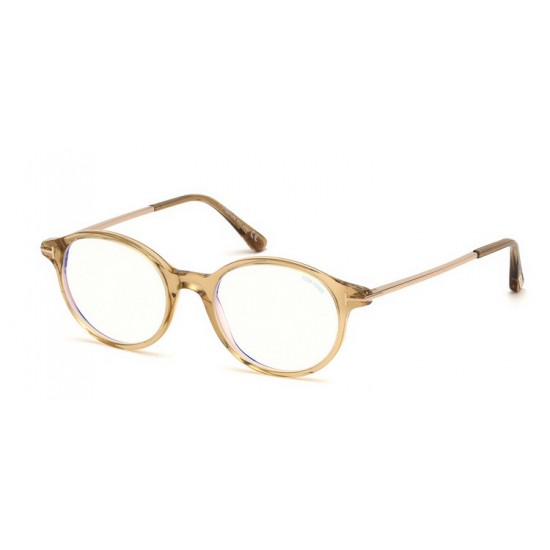 Tom Ford FT 5554-B - 045 Shiny Light Brown | Eyeglasses Unisex