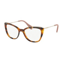 Miu Miu MU 02QV VX81O1 Havana Top Transparent Brown