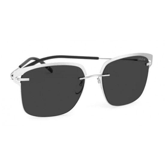 Silhouette- 8718 Titan Accent Shades 7000 Rhodium - Black | Sunglasses Unisex